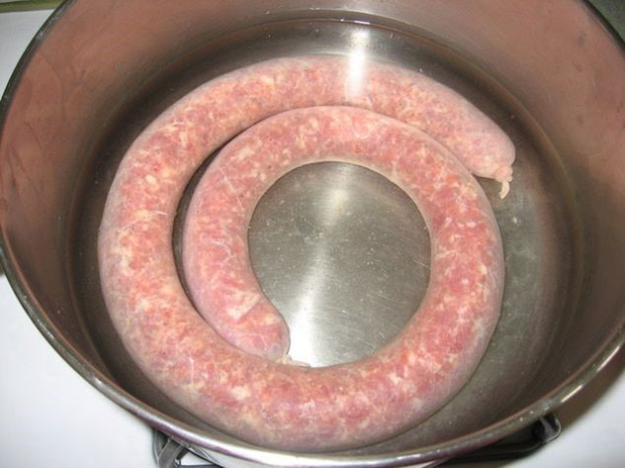 How to boil polish sausage